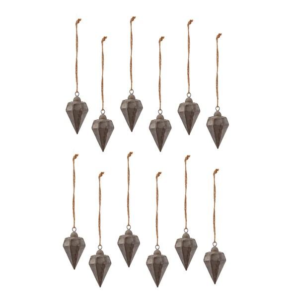 Tin Drop Ornament
