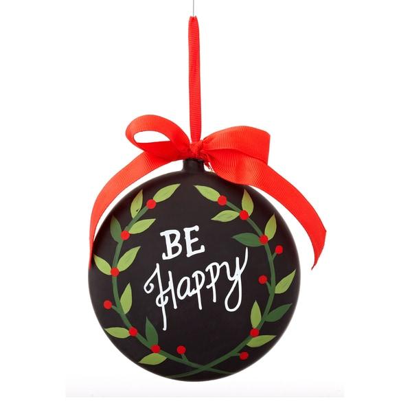 Chalkboard Be Happy Ornament