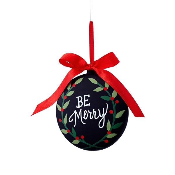 Chalkboard Be Merry Ornament