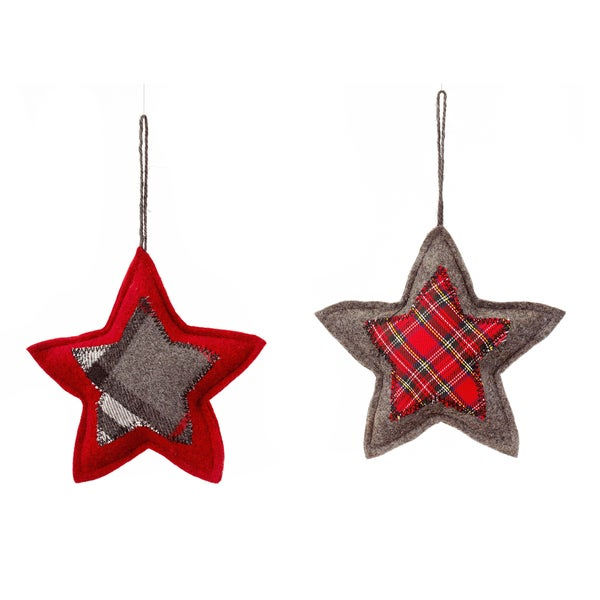 Patchwork Quilted Star Ornament (2 Styles)