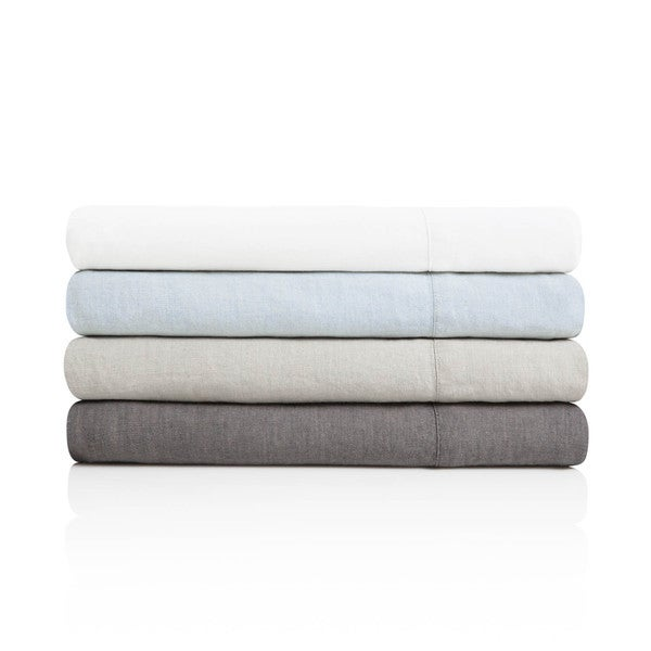 Woven Soft & Airy French Linen Sheets in 4 Vintage Colors