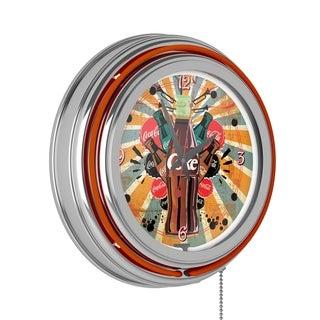 Coca Cola Brazil 1886 Neon Clock