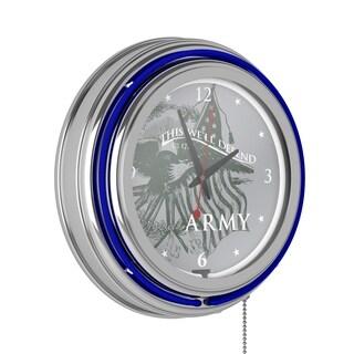 U.S Army Neon Clock - 14 inch Diameter