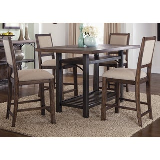 Franklin Rustic Brown and Metal Gathering Table