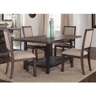 Franklin Rustic Brown and Metal Dinette Table