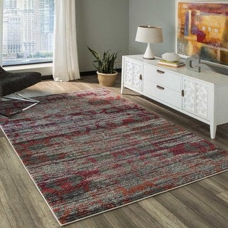 "Abode Multi Power-Loomed Abrash Rug (2'3"" x 7'6"")"