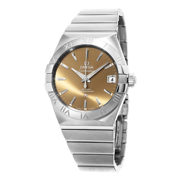 Omega Men's 123.10.38.21.10.001 'Constellation' Brown Dial Stainless Steel Swiss Automatic Watch