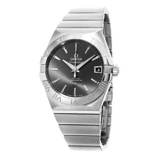 Omega Men's 123.10.38.21.06.001 'Constellation CC' Grey Dial Stainless Steel Swiss Automatic Watch