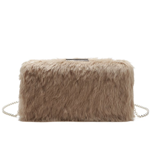 Pink Haley Allie Fur Clutch
