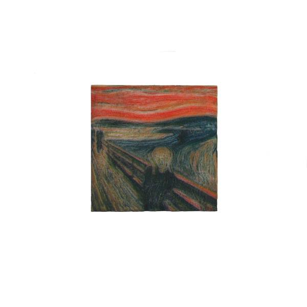 Edvard Munch 'The Scream' 3D Printed Art Tile