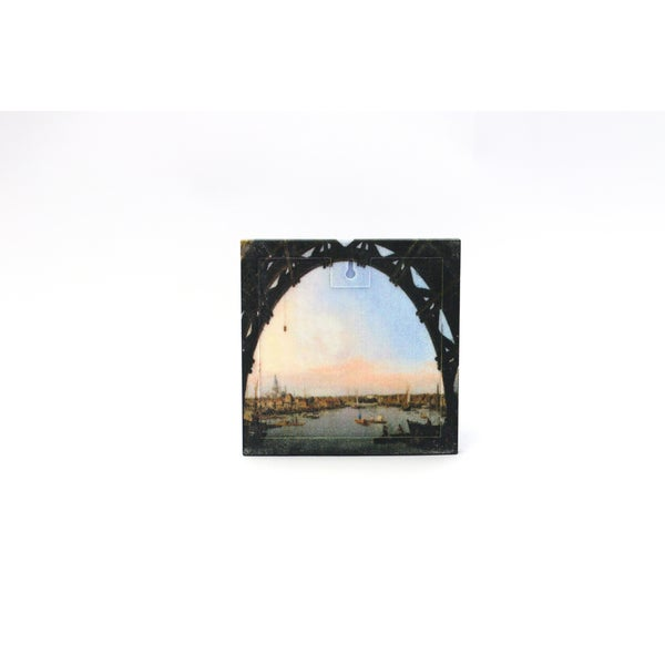 Canaletto 'London: Seen Through an Arch of Westminster Bridge' 3D Printed Art Tile