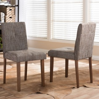 Baxton Studio Elsa Mid-century Scandinavian Style Dark Walnut Bent Wood Dining Side Chair Set (Set of 2)