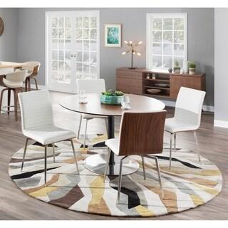 LumiSource Mason Walnut Wood Chair with Swivel