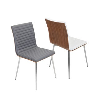 LumiSource Mason Walnut Wood and Stainless Steel Chair