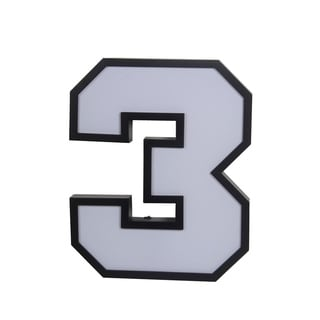 Privilege LED Number 3 Wall Decor