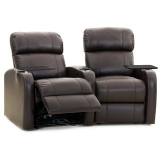 Octane Diesel XS950 Seats Curved/ Power Recline/ Brown Premium Leather Home Theater Seating (Row of 2)