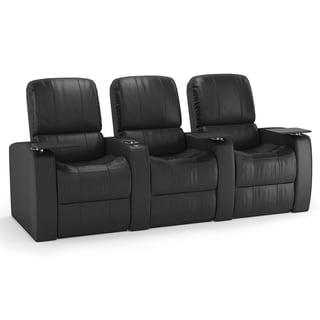 Octane Blaze XL900 Seats Straight/ Manual Recline/ Black Premium Leather Home Theater Seating (Row of 3)