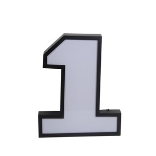 Privilge LED Number 1 Wall Decor