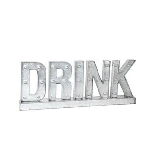 Privilege International 'Drink' LED Metal Word Board