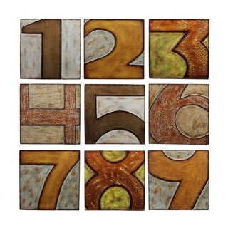 Privilege 9-piece Wood Numbered Wall Decor