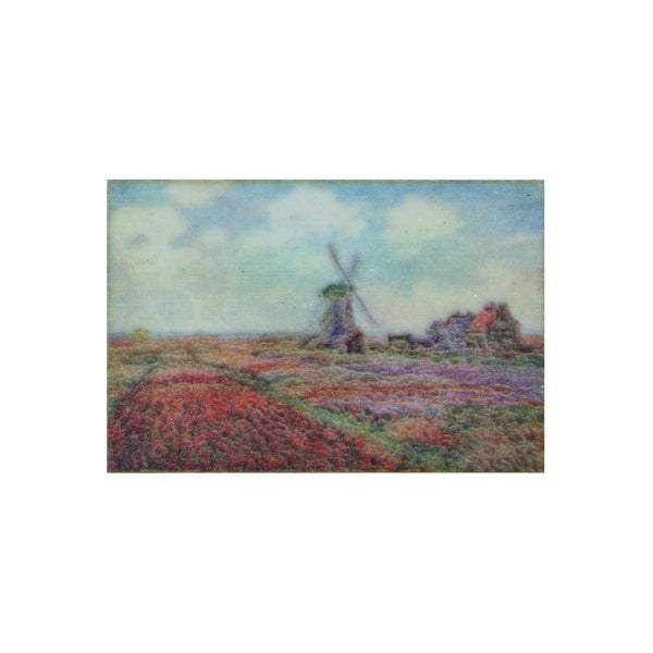 Claude Monet 'The Fields of Tulip with the Rijnsburg Windmill ' 3D Printed Magnet