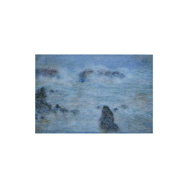 Claude Monet 'Storm off the Coast of Belle-lle' 3D Printed Magnet