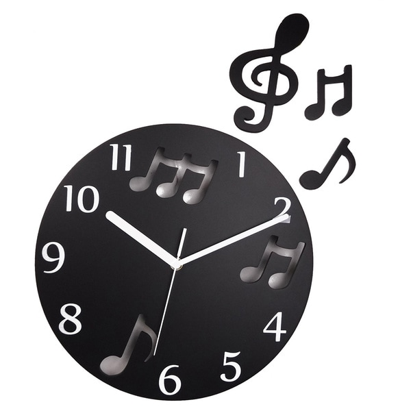 Music Note Clock with floating notes (12 inch)