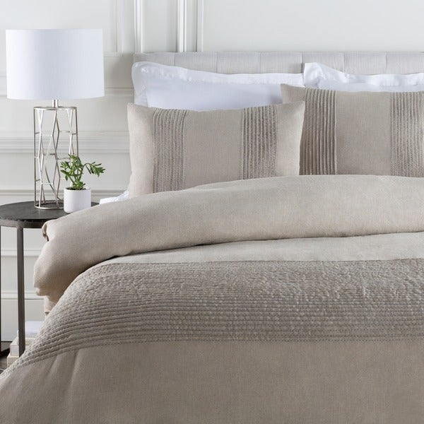 Coburn Grey Linen Duvet Cover Set