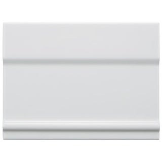 SomerTile 6x8-inch Thera Blanco Ceramic Zocolo Base Trim Wall Tile (Case of 26)