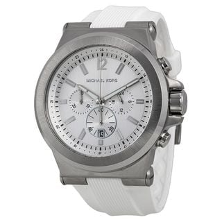 Michael Kors Men's MK8380 'Dylan' Chronograph White Rubber Watch