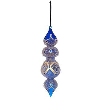 Beaded Drop x 4 Glass Ornament 10-inch
