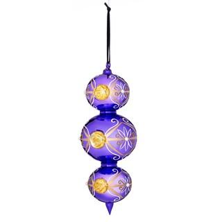 Reflector Triple Drop Ornament 9-inch