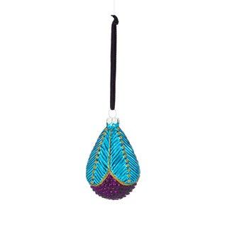 Petal Drop Glass Ornament 3.5-inch