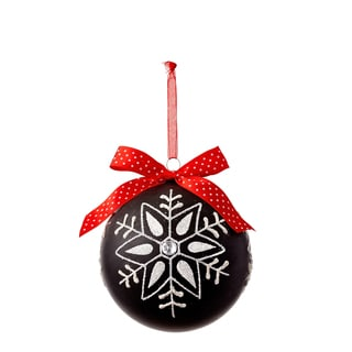 Chalkboard 5.25-inch Snowflake Ornament (Set of 3)
