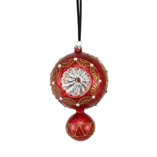 Reflector Pattern Drop Ornament 7-inch 6 Each