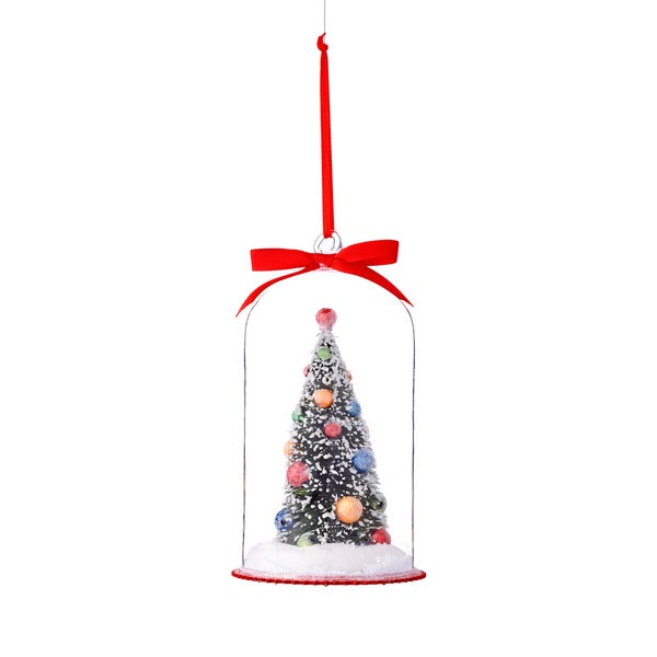 Christmas Tree in Cloche Ornament 6.125-inch 6 Each