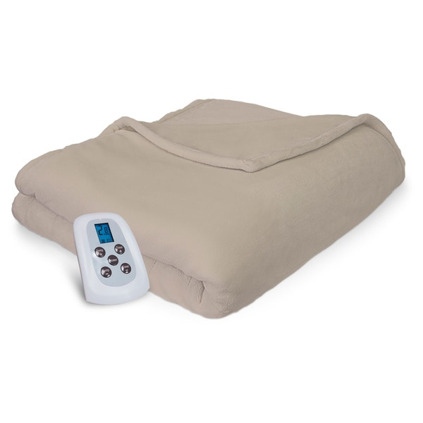 Serta Heated Electric Warming Plush Blanket 110 Voltage with Programmable Digital Controller
