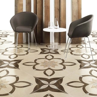 SomerTile 17.75x17.75-inch Argolis Natural Ceramic Floor and Wall Tile (Case of 10)