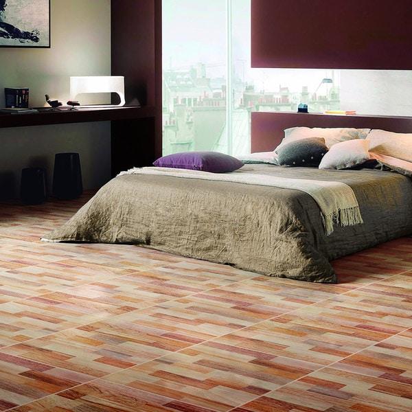SomerTile 17.75x17.75-inch Denton Beige Ceramic Floor and Wall Tile (Case of 10)