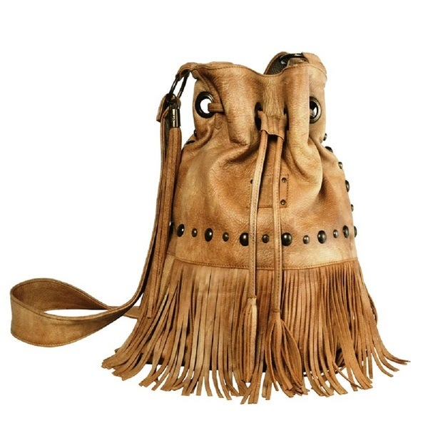 STS 33846 Free Spirit Fringe Crossbody Bag