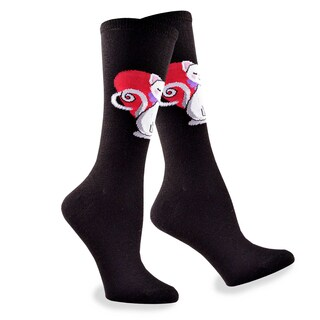 Women's Valentine's Day Cat Love in Heart Women's Cotton Crew Sock