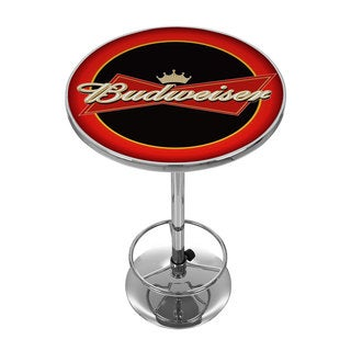 Budweiser Bowtie Red and Black Pub Table