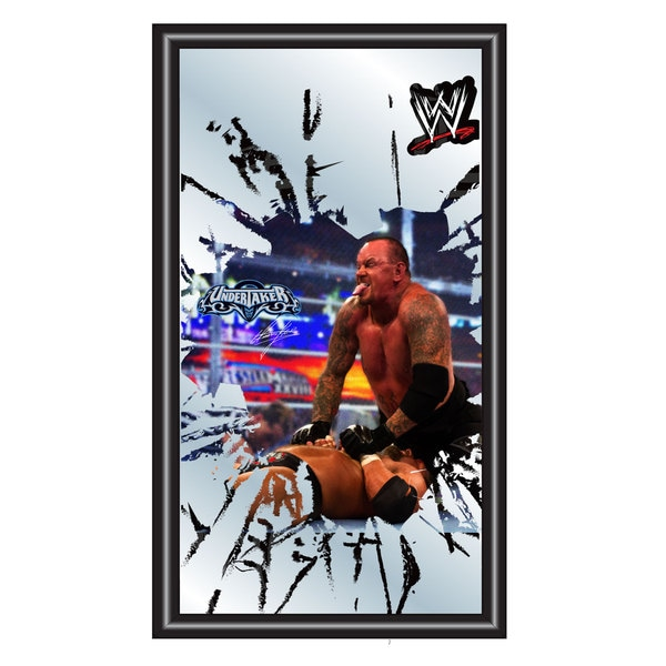 WWE Undertaker Framed Logo Mirror