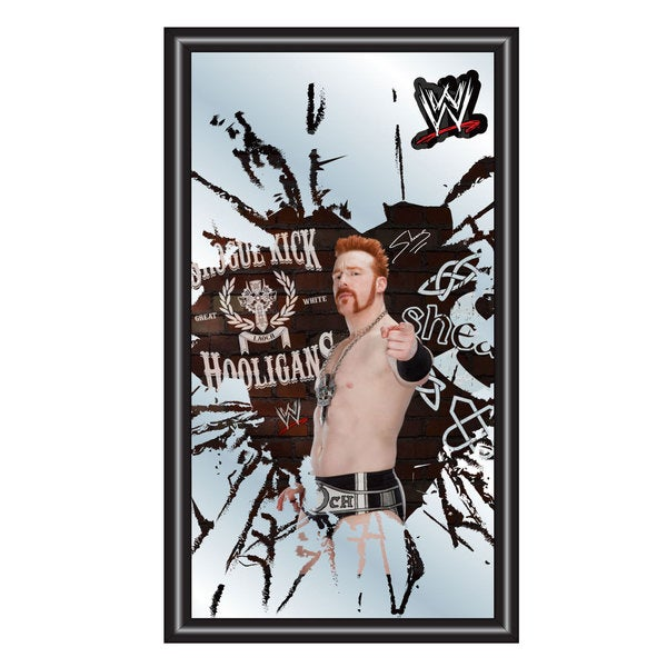 WWE Sheamus Framed Logo Mirror