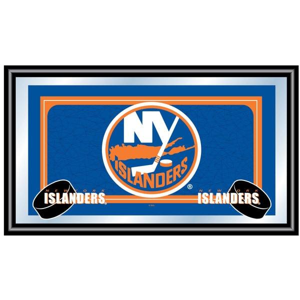 New York Islanders Framed Team Logo Mirror