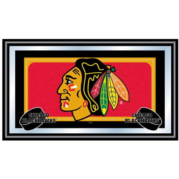 Chicago Blackhawks Framed Team Logo Mirror
