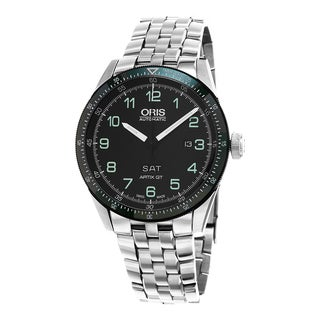 Oris Men's 735 7706 4494 SET 'Artix' Black Dial Stainless Steel Limited Edition Swiss Automatic Watch