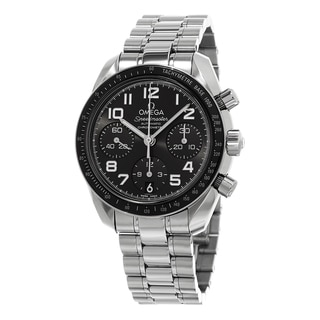 Omega Women's 324.30.38.40.06.001 'Speed master' Grey Dial Stainless Steel Swiss Automatic Watch