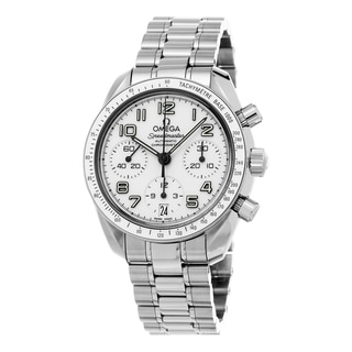 Omega Women's 324.30.38.40.04.001 'Speed master' White Dial Stainless Steel Swiss Automatic Watch