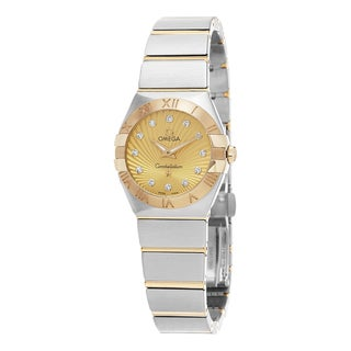 Omega Women's 123.20.24.60.58.001 'Constellation' Champagne Diamond Dial Stainless Steel/Yellow Gold Quartz Watch